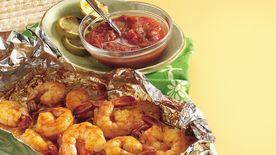 Chili Shrimp with Honey Salsa