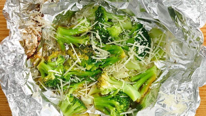 Lemon-Parmesan Broccoli Foil Packs