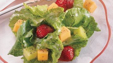 Romaine and Fruit Salad with Citrus Poppy Seed Vinaigrette
