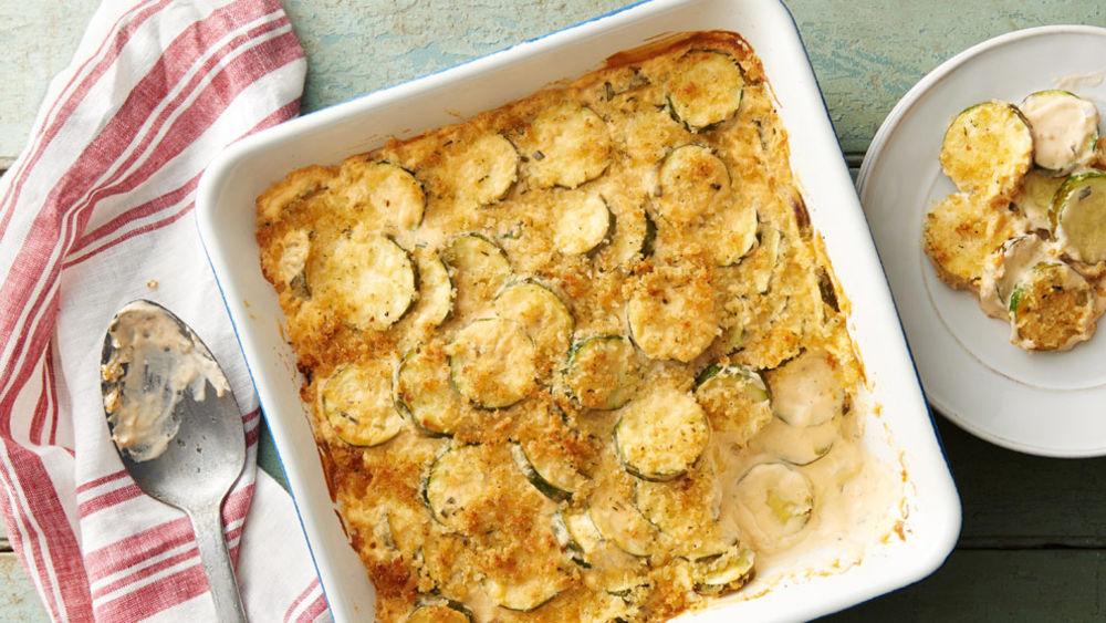 5-Ingredient Cheesy Zucchini Bake