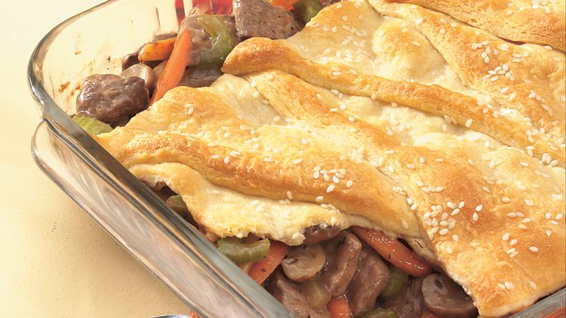 Crescent-Topped Pot Roast Pie
