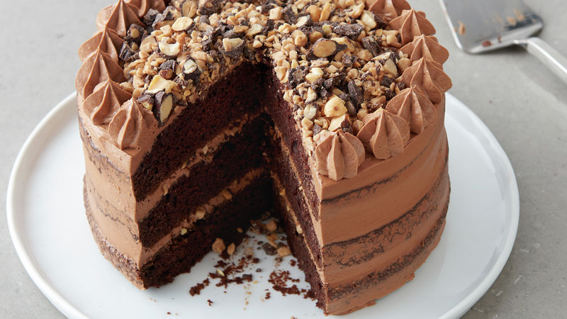 Chocolate-Toffee Crunch Layer Cake