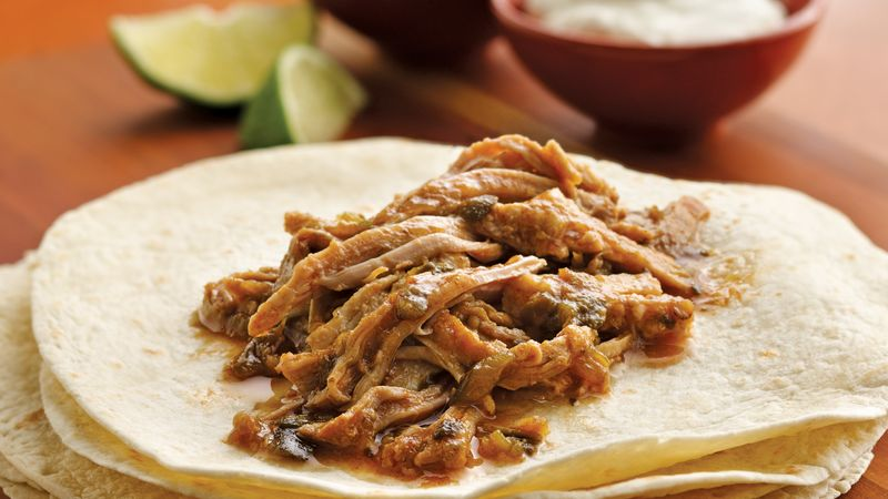 Slow Cooker Pulled Pork Burritos