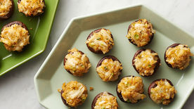 Crab and Fontina-Stuffed Mushrooms