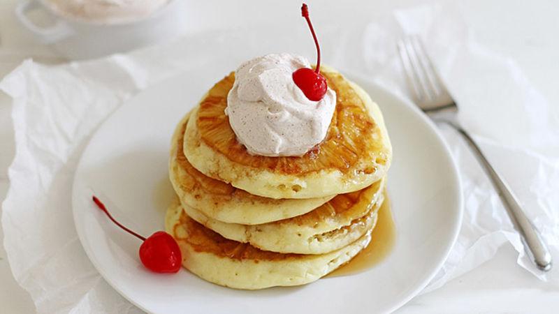 Pineapple Upside-Down Pancakes