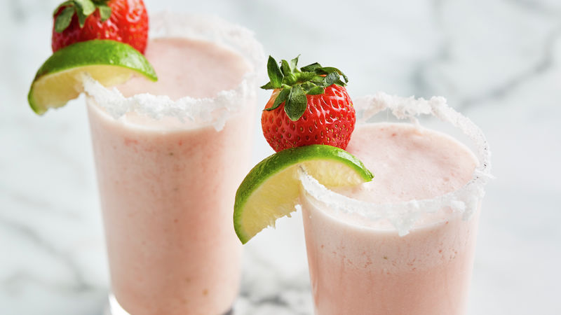 Strawberry-Coconut Frozen Margaritas