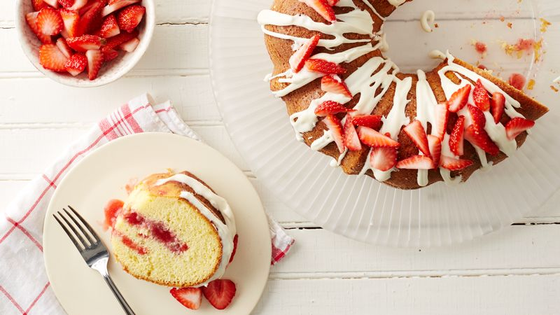 Strawberry Shortcake Poke Bundt Cake