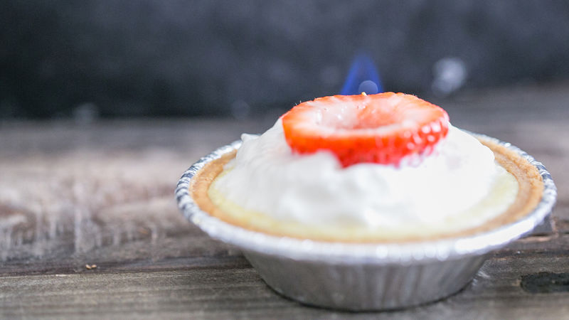 Strawberry-Lemon Mini Cheesecakes