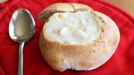 Easy Bread Bowls and Soup