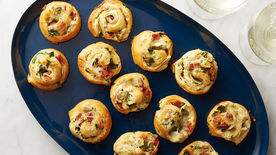 Bacon, Spinach and Artichoke Pinwheels
