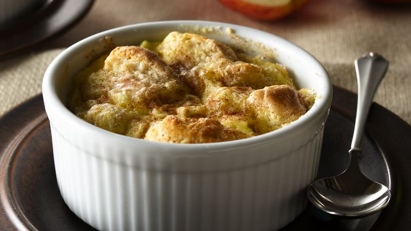 Apple Biscuit Custards