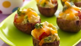 Twice Baked Broccoli and Cheese Potato Bites