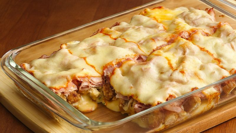 Deep-Dish Chicken Cordon Bleu