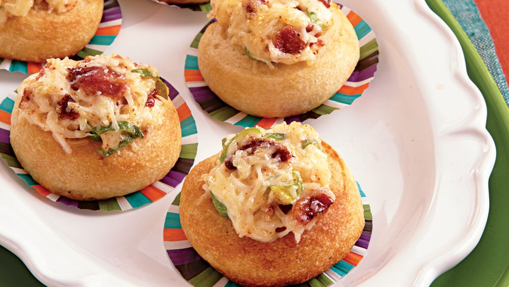 Bacon and Green Onion Cheese Bites
