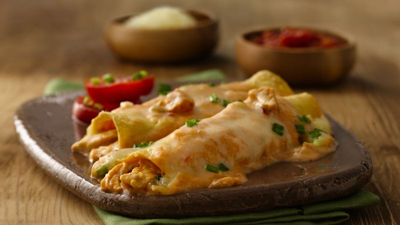 Cheesy Chicken Enchiladas Recipe Bettycrocker