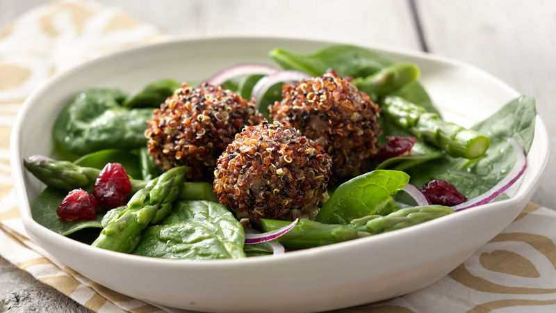Quinoa Wrapped Meatballs