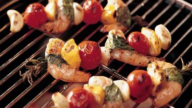 Grilled Shrimp Kabobs with Fresh Herbs