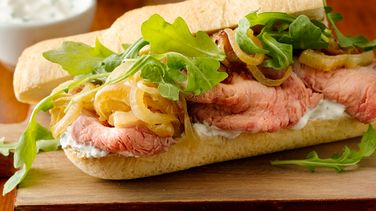 Prime Rib with Caramelized Onion Sandwiches
