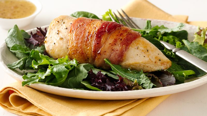 Easy Bacon-Wrapped Chicken Breasts
