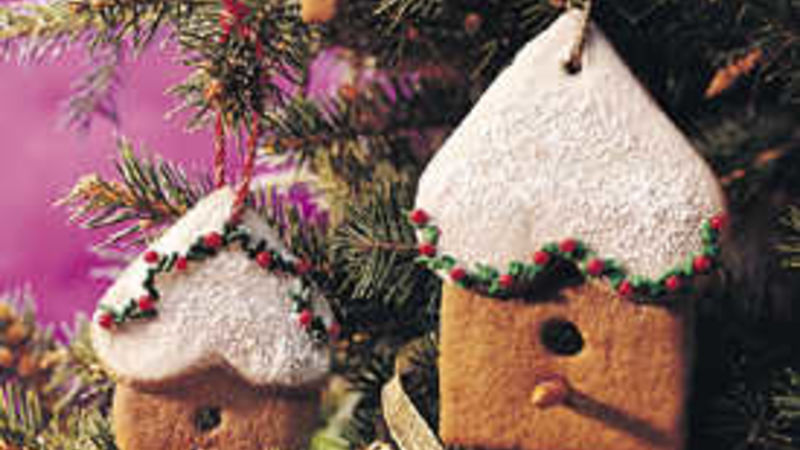 Gingerbread Birdhouse Ornaments