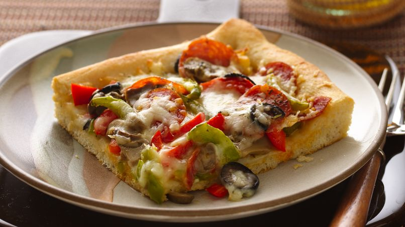 Pepperoni and Bell Pepper Pizza