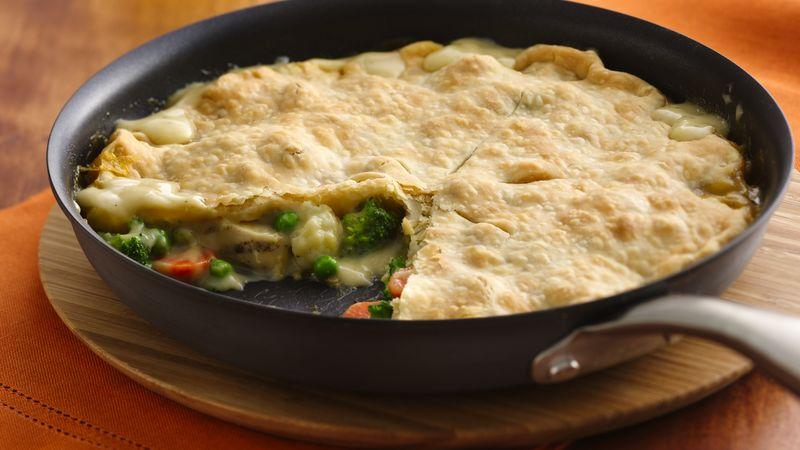 Easy One-Skillet Chunky Chicken Pot Pie
