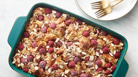 Raspberry Almond Croissant Bread Pudding