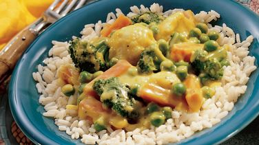 Coconut Curried Vegetables with Rice