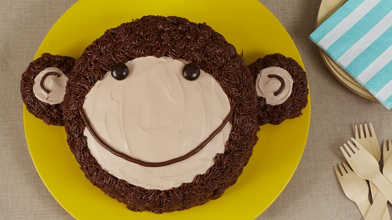 Cute Monkey Cake Recipe BettyCrockercom