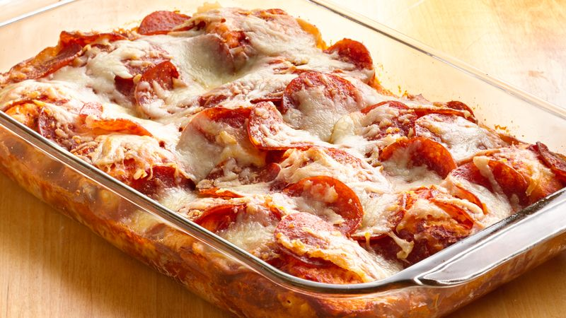 4-Ingredient Pizza Bake
