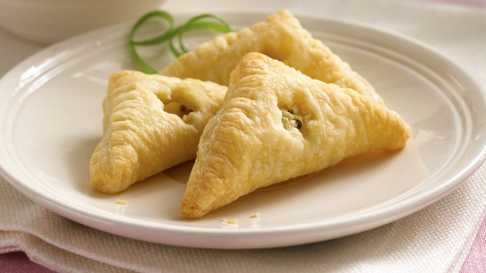 Feta Cheese, Lemon and Chive Turnovers