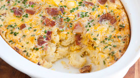 Cauliflower and Bacon Egg Bake