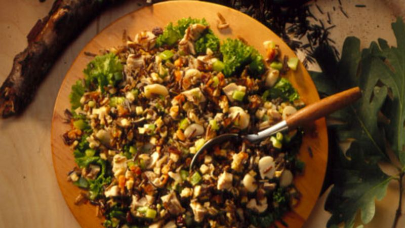 Wild Rice-Chicken Salad with Raspberry Vinaigrette
