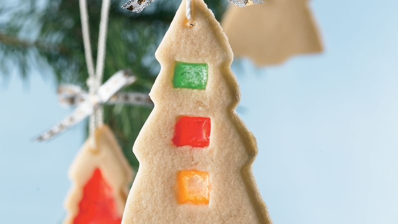 Christmas Stained Glass Ornaments Part - 47: Stained-Glass Christmas Tree Cookies