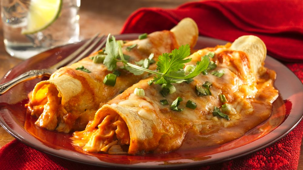 Cheesy Chicken Enchiladas Recipe - Pillsbury.com