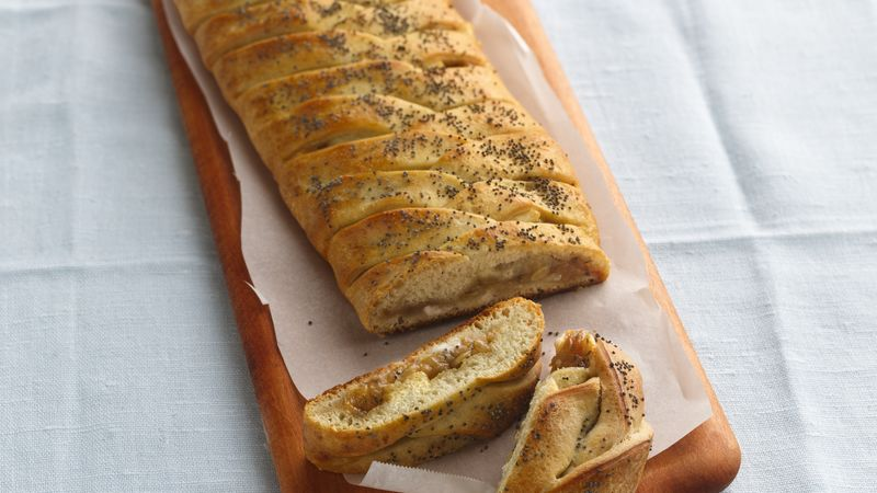 Asiago Cheese and Onion Braid