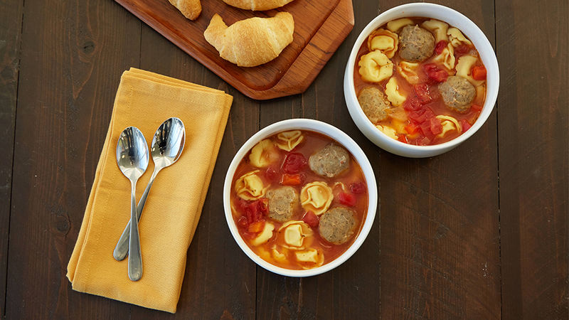 Italian Meatball and Tortellini Soup
