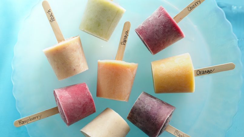 Fresh Fruit Frozen Yogurt Paletas