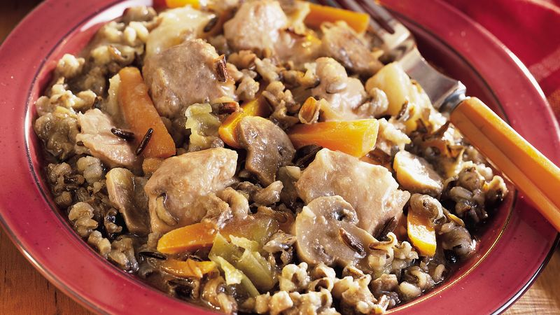 Chicken, Sausage and Cabbage Stew With Wild Rice