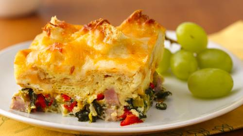 Ham, Spinach and Cheese Strata image