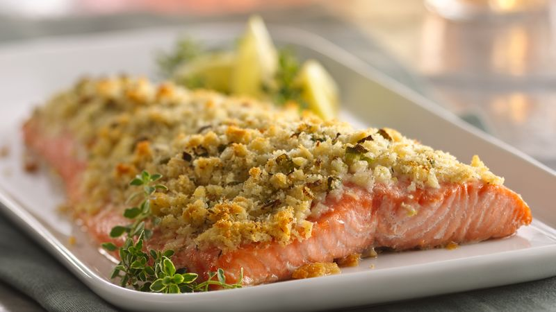 Lemon And Parmesan Crusted Salmon