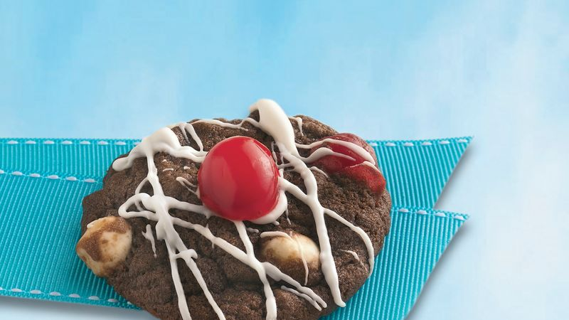 Triple Chocolate-Cherry Cookies