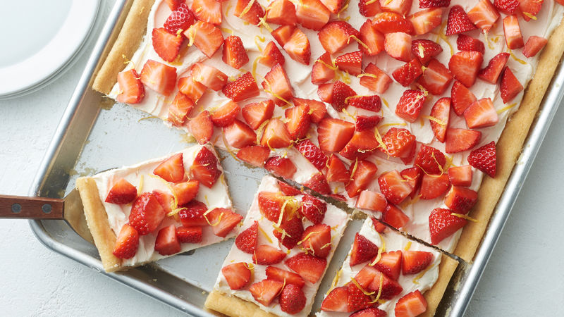 Strawberry-Lemonade Sugar Cookie Sheet-Pan Bars