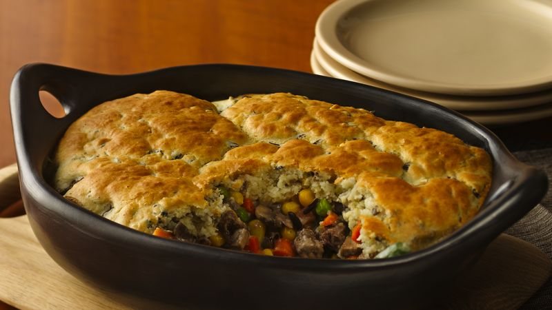Wild Rice and Mushroom Pot Pie