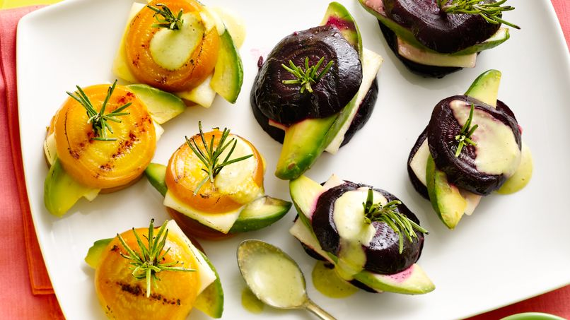 Grilled Beets with Panela Cheese and Avocado
