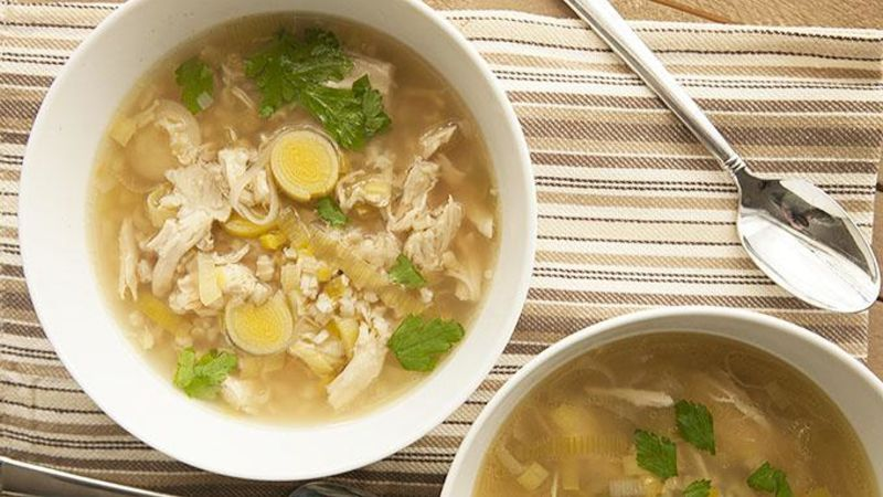Slow-Cooker Cock-a-Leekie Soup