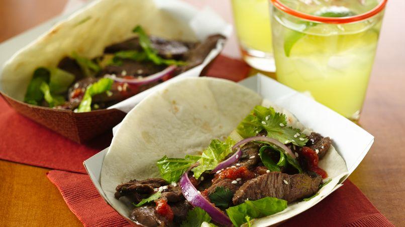 Tacos Coreanos de Carne Bulgogi