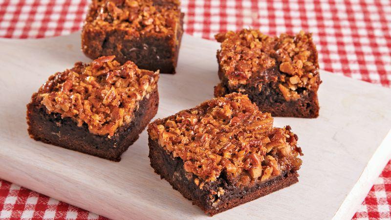 Easy Pecan Pie Brownies