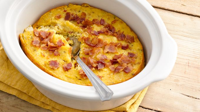 Slow-Cooker Bacon-Corn Pudding