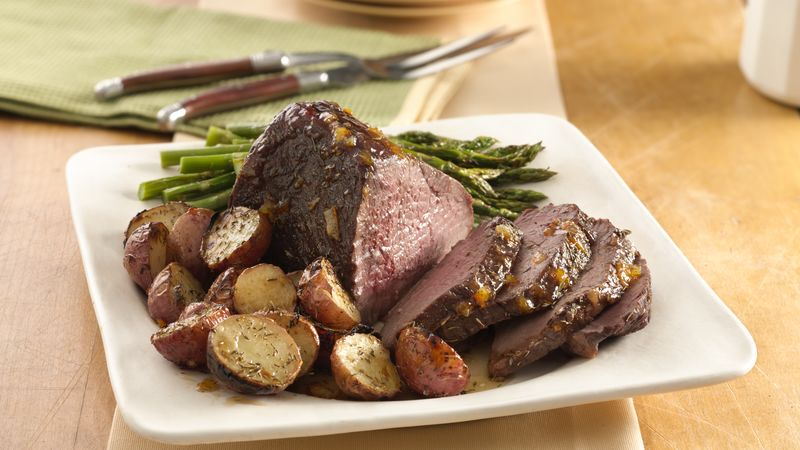 Roast Beef with Orange and Thyme